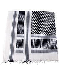 PLO Pali Tuch mit Fransen, Schwarz-weiß, Größe ca. 115x110cm