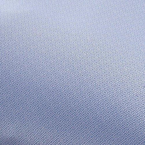 Curt Bauer Mako Brokat Damast Bettwäsche Calibri Größe 140×200+70×90 cm Farbe Ozean