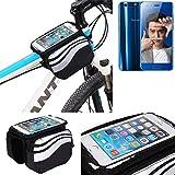 Für Huawei Honor 9 Rahmenhalterung Fahrradhalterung Fahrrad Rahmentasche Handyhalterung Fahrradtasche Handy Smarpthone Frame Bag Halterung Bike mount für Huawei Honor 9 Wasserabweisend, silber-schwarz - K-S-Trade(TM)