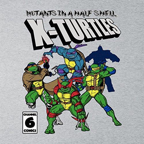 Mutants In A Half Shell X Turtles TMNT X Men Men's Vest Heather Grey