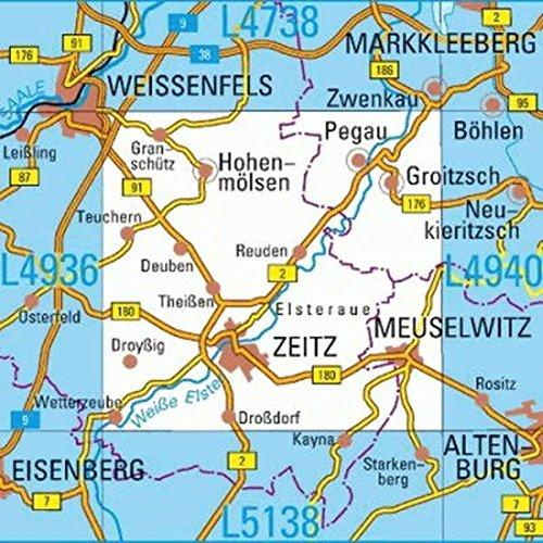 L4938 Zeitz Topographische Karte 1:50000: DTK50 Sachsen-Anhalt
