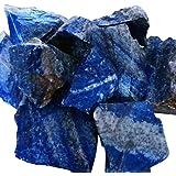 PowerBH 100G Natürlicher Lapislazuli Rohstoff Geeignet für Gartendekoration Ausgewogener Kristall Heilstein Gartenbedarf