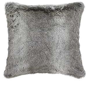 coussin de fausse fourrure en gris cuisine maison. Black Bedroom Furniture Sets. Home Design Ideas