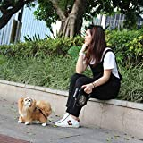 FairytaleMM Automatische versenkbare Hundeleine 8M 50kg Gewicht Große Hundeleine Verlängerung Pet Leash Blei für große mittlere Hund mit LED, schwarz & Camouflage Green
