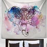 Beige : HAPEE Indian Elephant Patterns Beach Throw Tapestry Hippy Boho Gypsy Beach Towel Yoga Mat