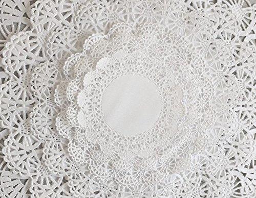 The Baker Celebrations Runde weiße Spitzendeckchen aus Papier; Verschiedene Größen 4