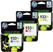 HP 933XL Ink Cartridge Set - Cyan, Magenta and Yellow