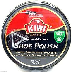 Kiwi negro betún para zapatos Shoe cera negro abrillantadora de zapatos negro Boot Polish pantalla