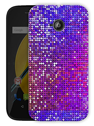 "Glitter Button Pattern Printed Designer Mobile Back Cover For ""Motorola Moto E"" By Humor Gang (3D, Matte Finish, Premium Quality, Protective Snap On Slim Hard Phone Case, Multi Color)"