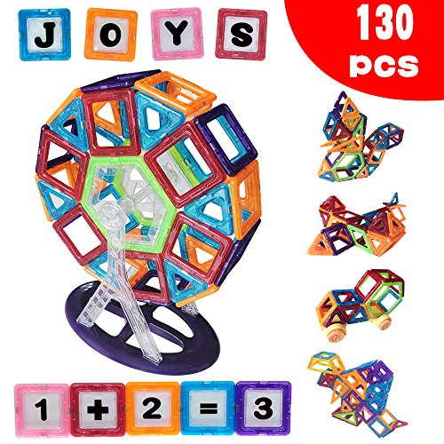 Die Bausteine, 130 pcs Blöcke gesetzt, Kinder Magnetische Spielzeuge bau Stapeln - gebäude fliesen Blöcke für Kreativität pädagogische, Komm mit leinwand - spielzeug