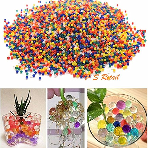 10000PCS (approx)/Bag Crystal Soil Water Beads - Home Decor Pearl Shaped Bio Gel Ball For Decoration