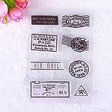 Calistouk Tampons DIY tampons transparente Creative en Silicone d'étanchéité DIY Album Craft Scrapbooking Décoration Fille