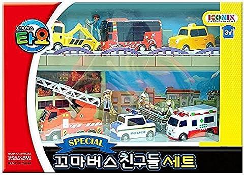 Tayo The Little Bus Tayo Friends Special 6Pcs Mini Car Set : Coréenne Made TV animation Toy (Citu + Alice + Nuri + Pat + Toto + Frank)