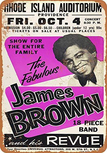 Wise Degree James Brownn in Providence Metallblechschild Poster Wand K¨¹Che Kunst Cafe Garage Shop Bar Dekoration