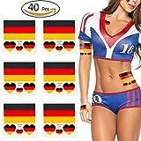 VAMEI 40 stücke 2018 WM FIFA National Banner Fahnen Tattoo Tattoo Set Gesicht Körper Aufkleber Deutschland