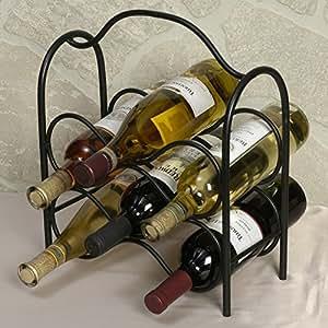 J & J Draht Weinregal, für sechs Flaschen