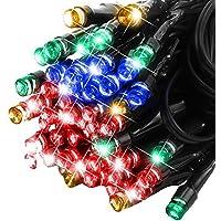 E-foxer 50 LEDs 10M Luce Della Stringa Solare Blu Impermeabile