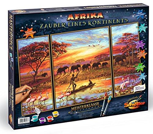 Schipper 609260627 - Malen nach Zahlen - Afrika Zauber eines Kontinents (Triptychon), 50x80 cm