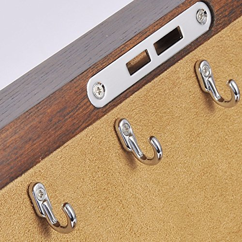 QPSSP Antike Schmuckkästchen Schmuckkästchen Alte Ulme Angepasste Hardware - Reine Holz - Schatulle - Box,B - 6