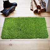 "Kuber Industries PVC 35 MM Artificial Grass Door Mat - 24""x 15"", Green (DenseG01)"