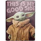 ERIK - Carpeta solapas The Mandalorian, Baby Yoda, Grogu, 25x34 cm