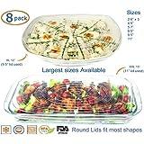 Couvercles en silicone Exceptionnele XXL et XL couvre plats, plats de service, bols à salade, pots, récipients, jarres, boîtes de conserve