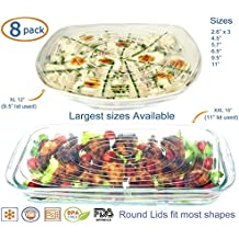 Silicone Stretch Lids (EXCEPTIONAL XXL and XL Size) Covers Food
