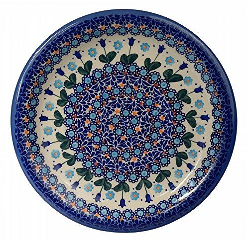 Classic Boleslawiec Pottery Hand Painted Ceramic Dinner Plate (Diameter: 26.0cm /10.2 Inch) 134-u-006