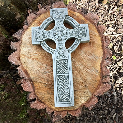 Antikas - Keltisches Kreuz - Grab Dekoration nordischer Schmuck - Steinkreuz Antik