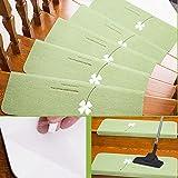 Fastar 5Set Stufenmatten Matten, Anti-Rutsch-Teppich, Nacht Luminous Pads, Outdoor und Indoor (70x 22cm) Matte für Treppe, grün, Grün