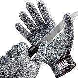 FREETOO Gants Anti-Coupure Protection De Cuisine Bricolage- Résistant, Souple, Flexible, Antidérapant, Lavable Et Vert pour Aliments (L)