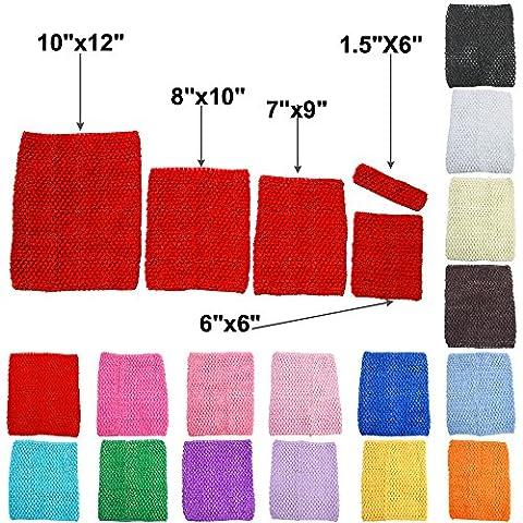 TtS 15x15cm (Red) Top Crochet Tutu Jupe Tube Ceinture Robe Elastique
