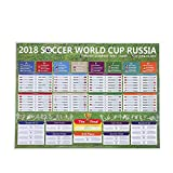Kobwa Russia 2018 World Cup Stickers, Wall Chart Poster/Football Tournament Schedule/Soccer Calendar Bar/Party Decorations - 57 X 42 cm World Cup Poster