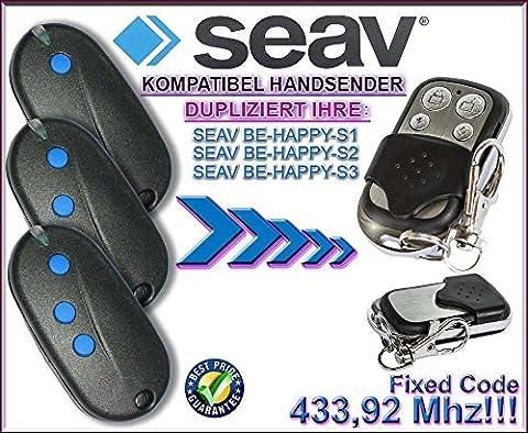SEAV BE HAPPY S1, SEAV BE HAPPY S2 , SEAV BE HAPPY S3 Kompatibel Handsender, Ersatz, TOP Qualität clone remote control, Universal remote control transmitter replacement