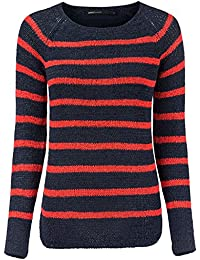 Only Onltappy L/S Stripe Pullover Cc Knt, Pull Femme