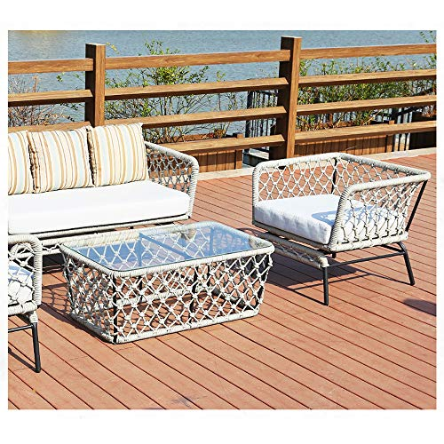 VBARV Garden outdoor table and chair combination, outdoor living 4 tables and chairs terrace dining