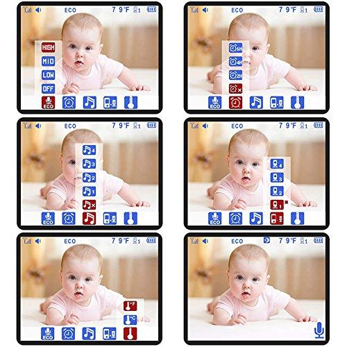 iLifeSmart SM24 Video Baby Monitor 2.4 Inch Babyphone mit Nachtsicht Temperaturüberwachung und Timer-Einstellung Funktionen Drahtlos Digital Kamera - 6