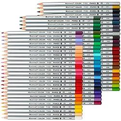 NIUTOP Premier suave núcleo arte dibujo lapices de dibujo del artista adulto secreto jardín para colorear libro / niños artista escritura / arte Manga, Set de Marco colores surtidos
