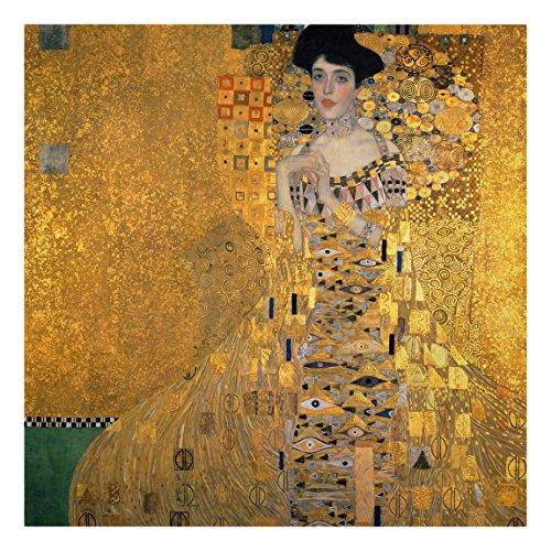 Leinwandbild Gustav Klimt - Kunstdruck Bildnis der Adele Bloch-Bauer I - Quadrat 1: 1 -Jugendstil,...