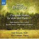 Oeuvres pour violon et piano (Intégrale - volume 1)