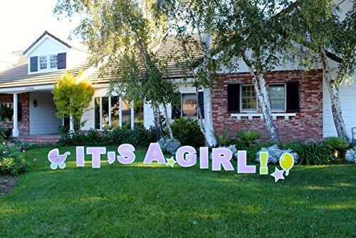 It 's a Girl. Outdoor Ankündigung Dekoration Karte, Yard Sign Kommt 55,9cm Hohe mit Einsatz