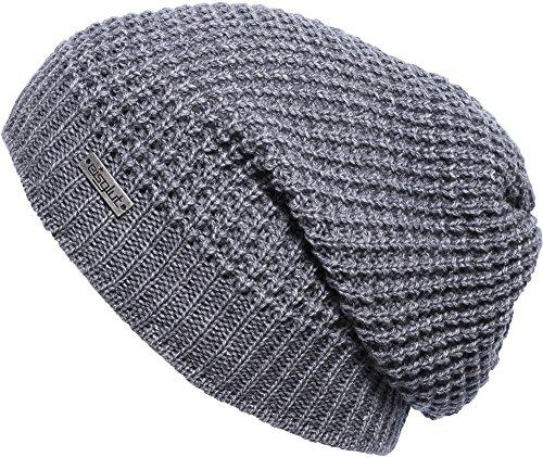 Eisglut Mütze Blaze grau mel, one size (Für Männer Visor-hüte Knit)