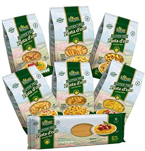 Pasta d'oro Kennenlernpaket (7 x 500 g glutenfreie Nudeln)
