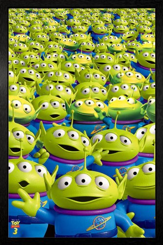 GB Eye Limited Poster Toy Story 3 - Aliens, gerahmt, 94,5 x 64 cm