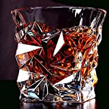 Prime Whisky Glasses Set Of 6 Pc ! Luxury Crystal Touch Cut Seamless Designer Whiskey Glass | Diamond Cut Design | Whiskey Glass Set Of 6 Pc | Perfect For Whisky |Scotch | Bourbon | Cognac | Tequila | Liquor | – 10oz | 300 Ml
