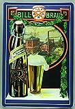 Blechschild Nostalgieschild Bill Bräu Bier Hamburg Flaschenbiere retro Schild Brauerei