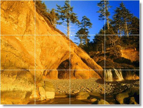 PLAYA FOTO MURAL AZULEJO B048  18 X 60 96 CM CON (12) 6 X 6 AZULEJOS DE CERAMICA