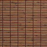 Easy-Shadow Holzrollo Holz-Rollo mit Seitenzug 100 x 170 cm / 100x170 cm in der Farbe braun - Bambus Holz Rollo für Fenster und Tür - Bedienseite rechts