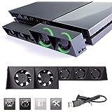Thlevel Ventola di raffreddamento per PS4, ventola di raffreddamento USB 5 Ventola Turbo Controllo della temperatura…