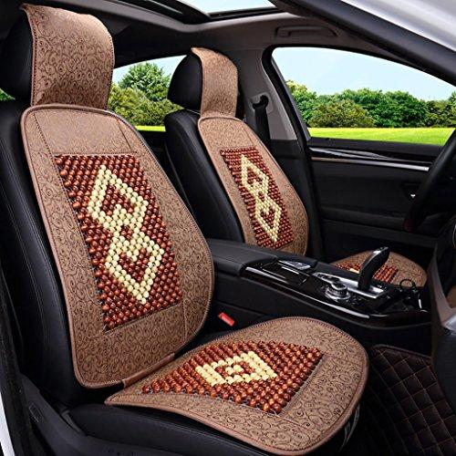 Sommer Auto Kissen Holz Perle Auto Kissen Komfortable und atmungsaktive Universal Kissen 2 Sitze (3 Farben erhältlich) ( Farbe : B ) (Perlen Sitz-kissen)